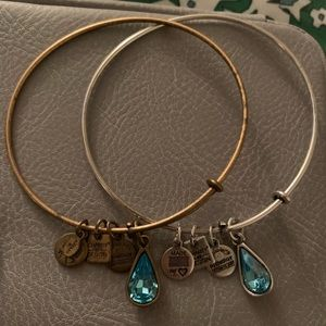 Alex and Ani bracelets (pair) charity by design
